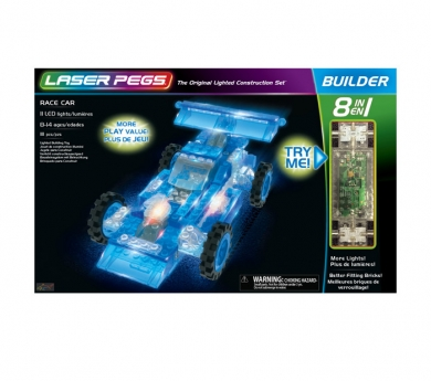Construcción con luz 8 en 1 racer cars