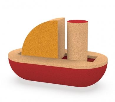Vaixell de 3 peces de suro