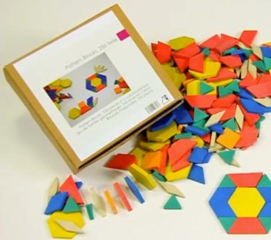 250 Blocs gomètrics Rewood- pattern blocks