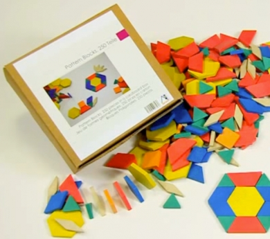250 Bloques geométricos Rewood - pattern blocks