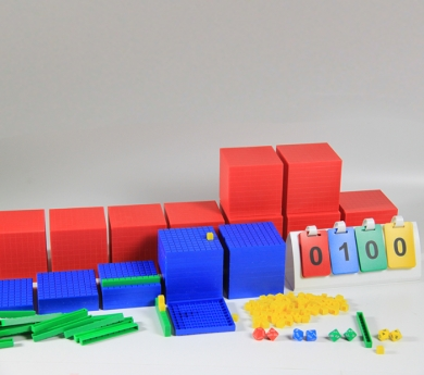 Base 10 de plástico encajable 198 piezas