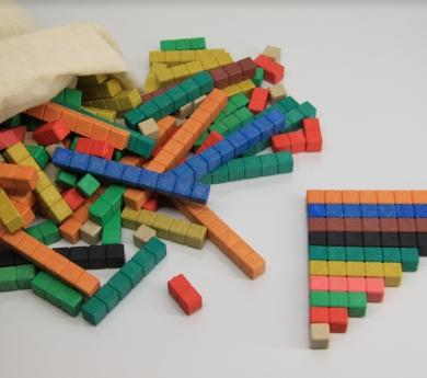 Regletas numéricas Cuisenaire marcadas 306 piezas ReWood