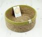 Cesto de yute y yerba marina 21 cm. borde verde