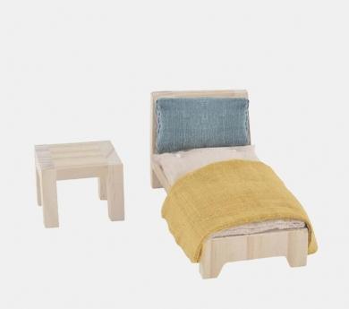 Habitació amb llit individual per la caseta Holdie