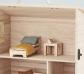Habitación con cama individual para la casita Holdie