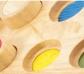 Juego de texturas con base de madera