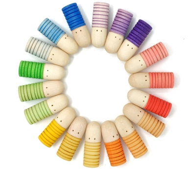12 figuras Brots arco iris