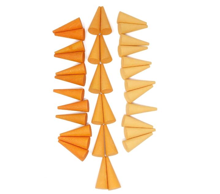 36 peces soltes per a Mandala cons taronges