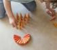 36 piezas sueltas para mandala conos naranjas