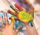 4 botes de Pintura de Dedos ecológica