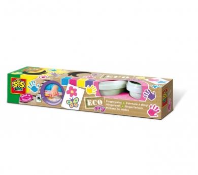 4 pots de pintura de dits ecològica tons pastel
