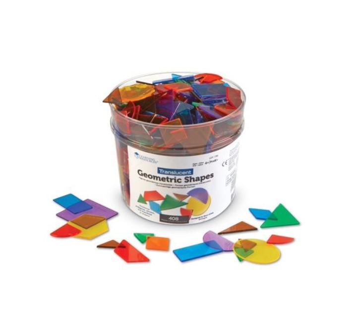 400 bloques geométricos - Pattern blocks translúcidos