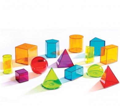 14 Sólidos geométricos translúcidos con tapa