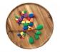 Conjunto de 36 piedras de río de colores