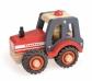 Tractor petit de fusta amb rodes de goma