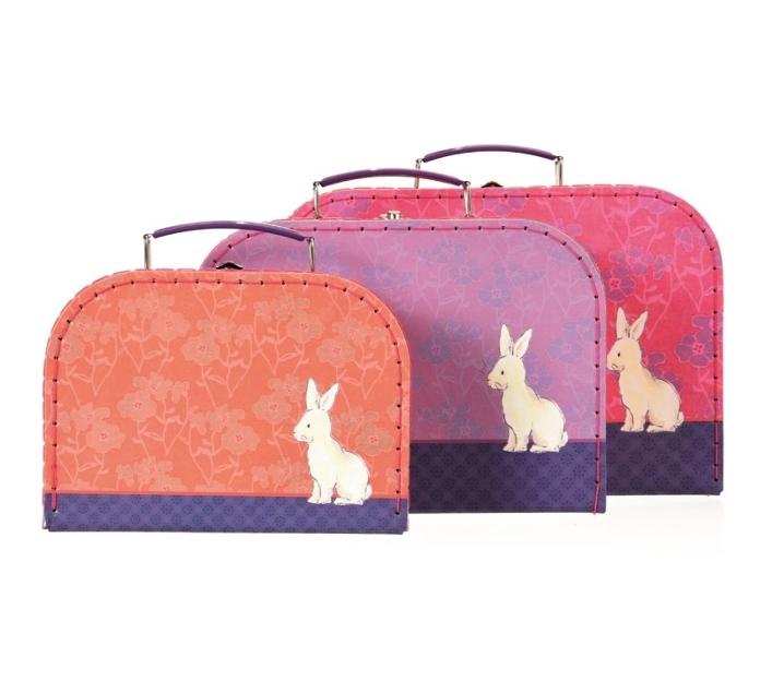 Conjunto de 3 maletas del conejo