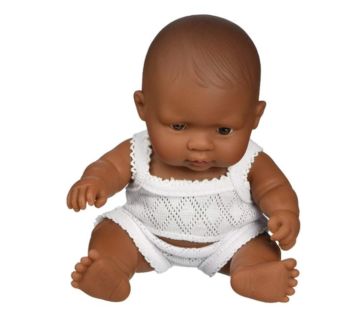 Nina bebè sexuada trets llatinoamericans 21 cm.