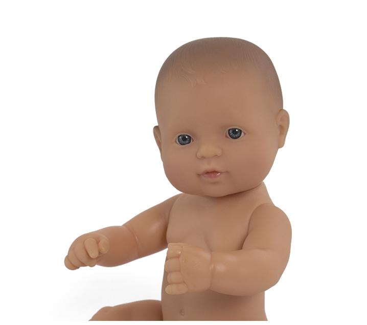 Muñeco bebé sexuado rasgos europeos 32cm.