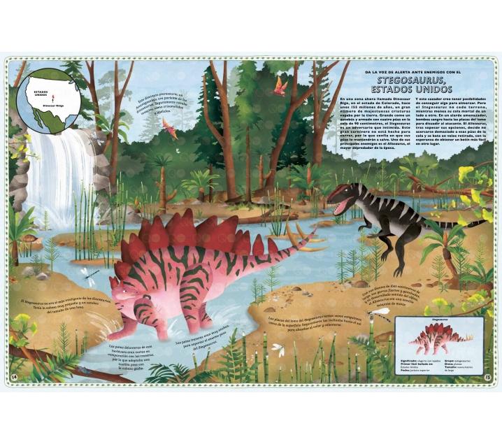Libro Atlas De Aventuras De Dinosaurios Pero cuando los animales escapan de su. atlas de aventuras de dinosaurios