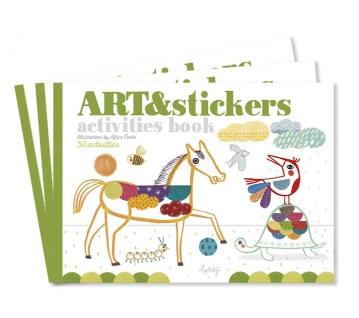 Cuaderno Arte con pegatinas