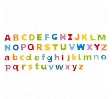 Letras magnéticas mayúsculas y minúsculas