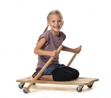 Tabla de paddle con ruedas