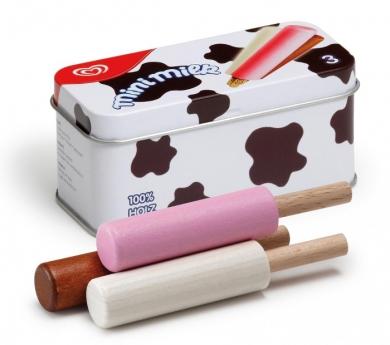 Mini milk de juguete de madera