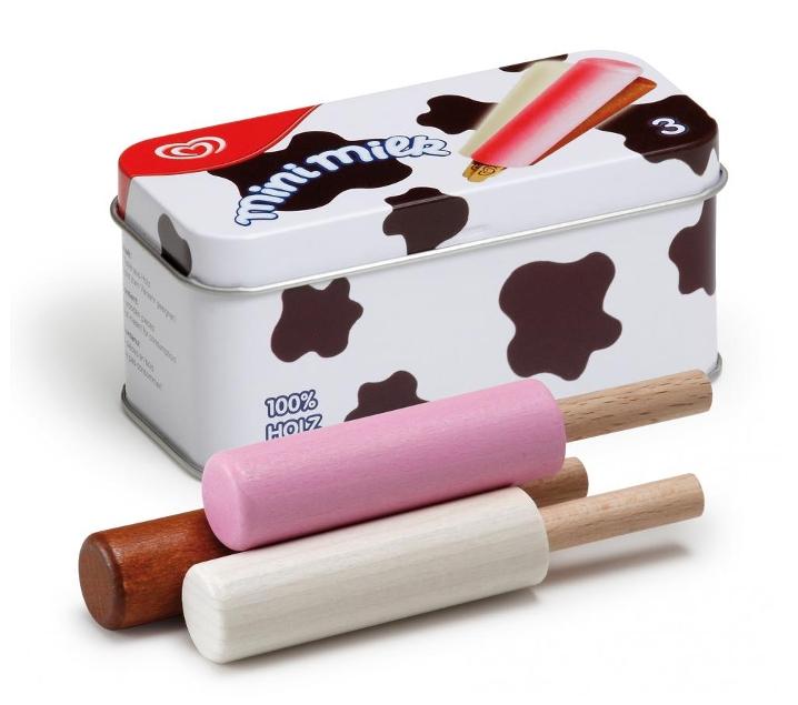 Mini milk de joguina de fusta