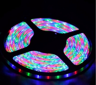 Tira de LEDS multicolor con enchufe