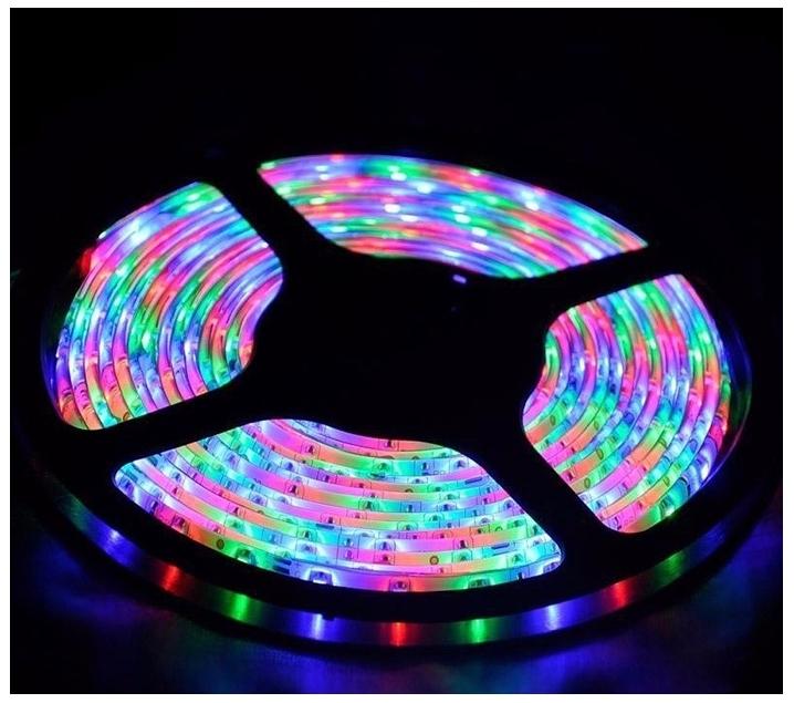 Tira de LEDS multicolor con enchufe