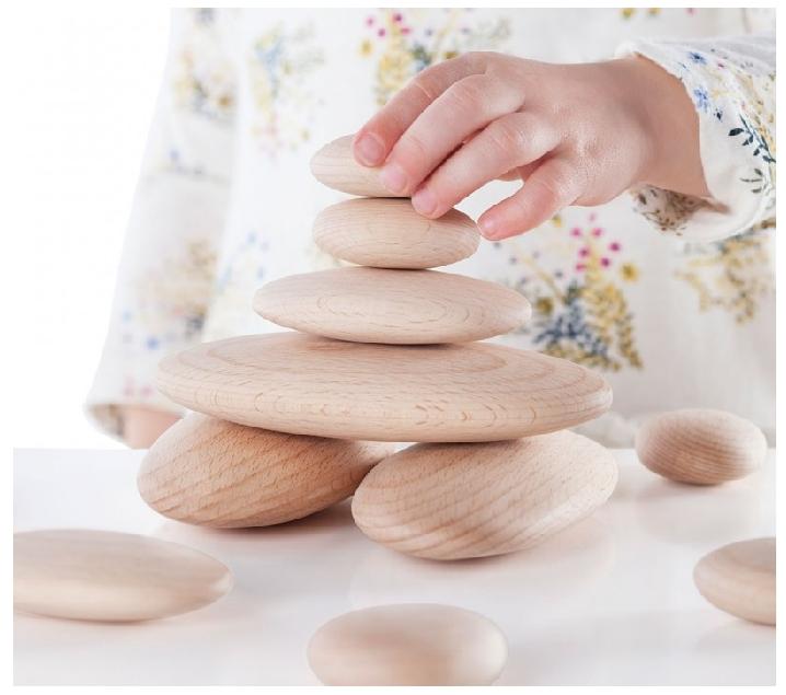 20 Pedres de fusta amb targetes d'activitats