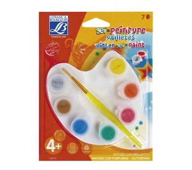 Set pequeño/a pintor/a purpurina