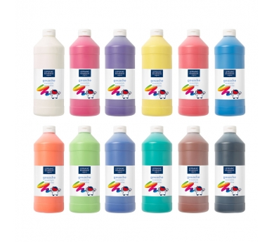 Témperas líquidas de varios colores 1L