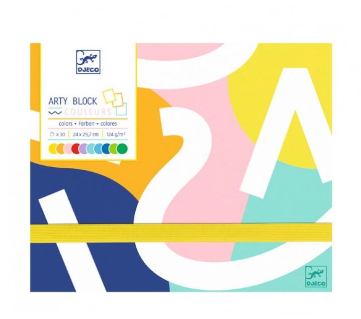 Arty Bloc. Papel de colores