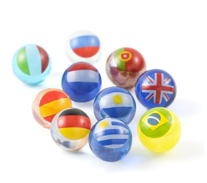 Canicas de países del mundo hechas a mano