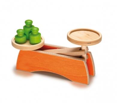 Balanza de juguete de madera