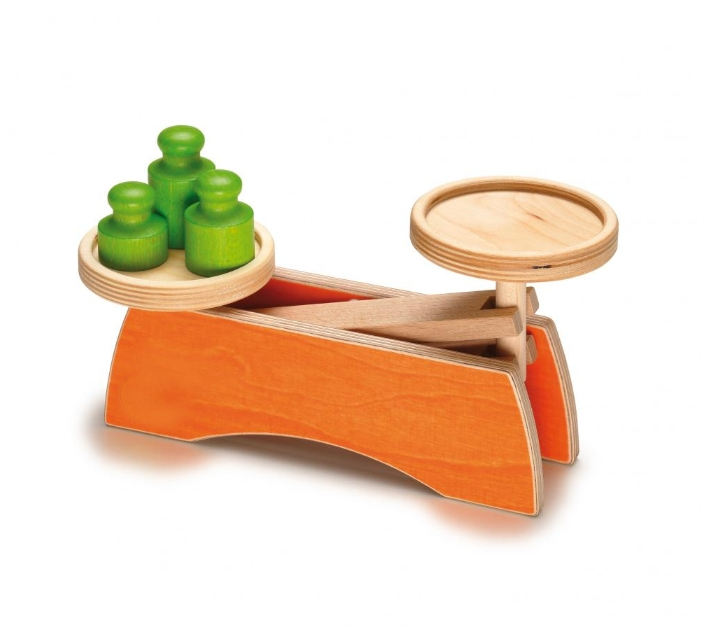 Balança de joguina de fusta