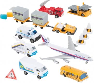 Vehículos del aeropuerto de juguete 16 piezas