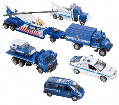 Vehicles de policia de joguina