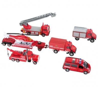 Vehículos de los bomberos de juguete