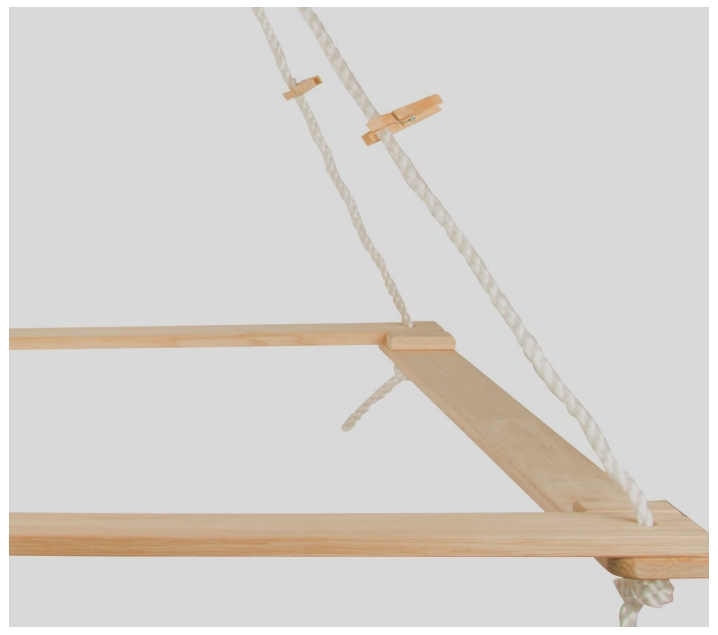 Estructura colgante para cabañas