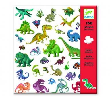 160 pegatinas dinosaurios