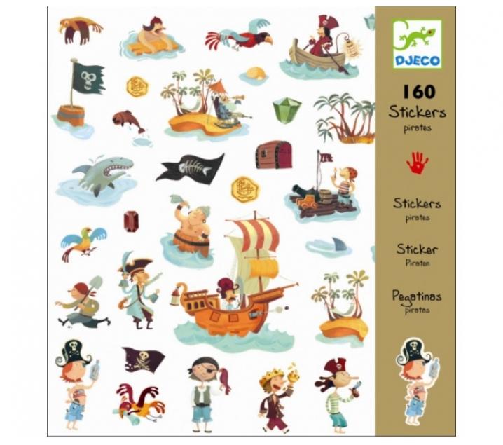 160 pegatinas piratas