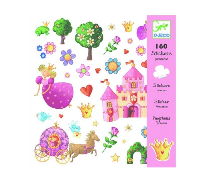 160 pegatines princeses