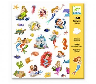 160 pegatinas sirenas
