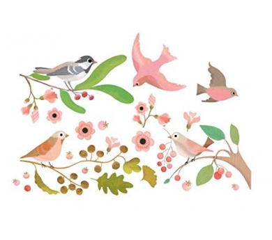 Vinilos de pájaros exóticos
