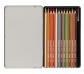 Estoig metàl·lic de 12 llapis acuareables amb pinzell