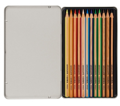 Estoig metàl·lic de 12 llapis de colors