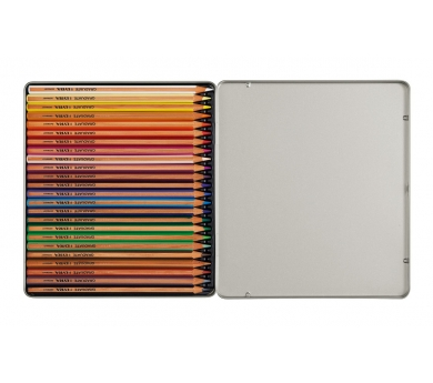 Estuche metálico de 24 lápices de colores