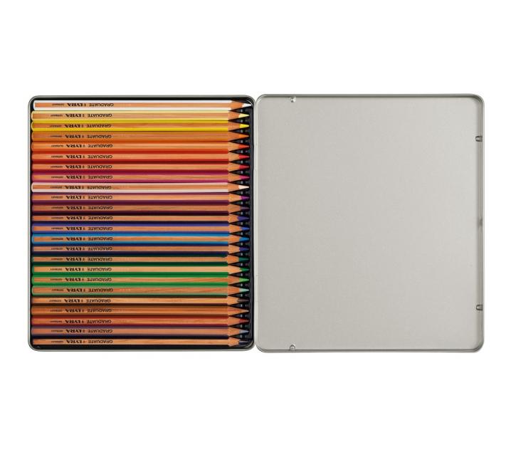 Estoig metàl·lic de 24 llapis de colors